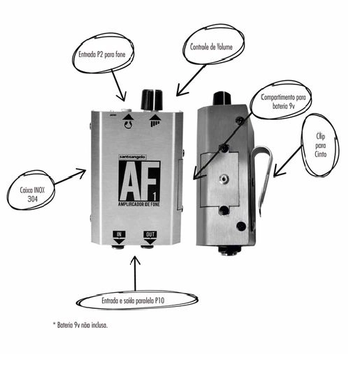 Amplificador De Fone Santo Angelo Af 1